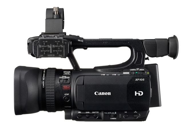 XF105 Professional Camcorder - left view