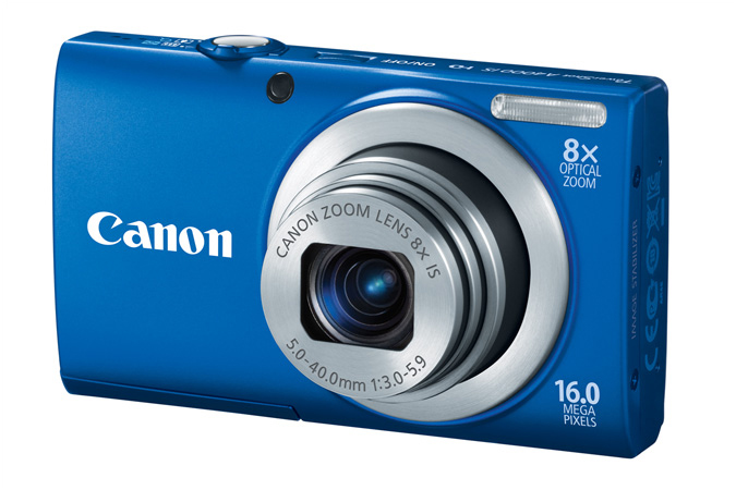 PowerShot A4000 IS digital camera in Blue - 3/4 View