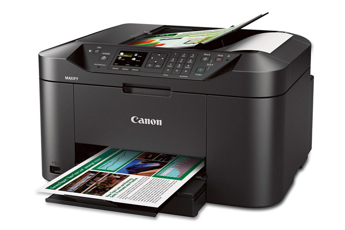 how to connect a printer with an office line cannon