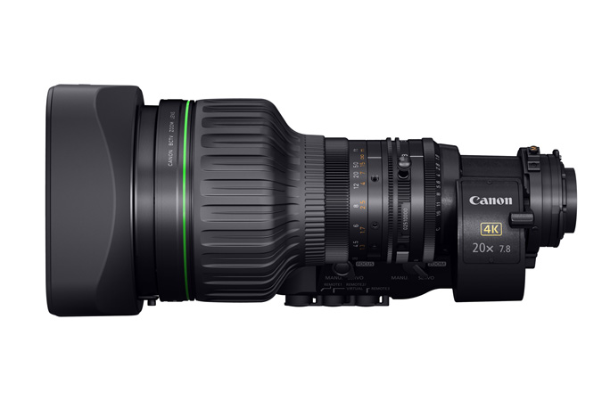 CJ20ex7.8B portable 4K Broadcast Lens - Side view