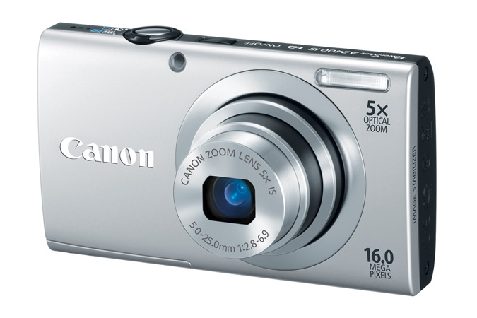 PowerShot A2400 IS digital camera in Silver - 3/4 View