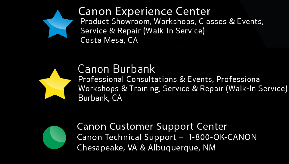 Canon Service & Support Network