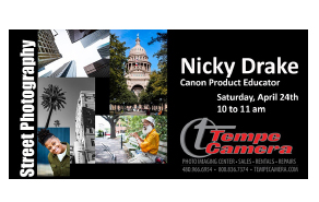 Canon and Tempe Camera Presents - Street Photography with Nicky Drake