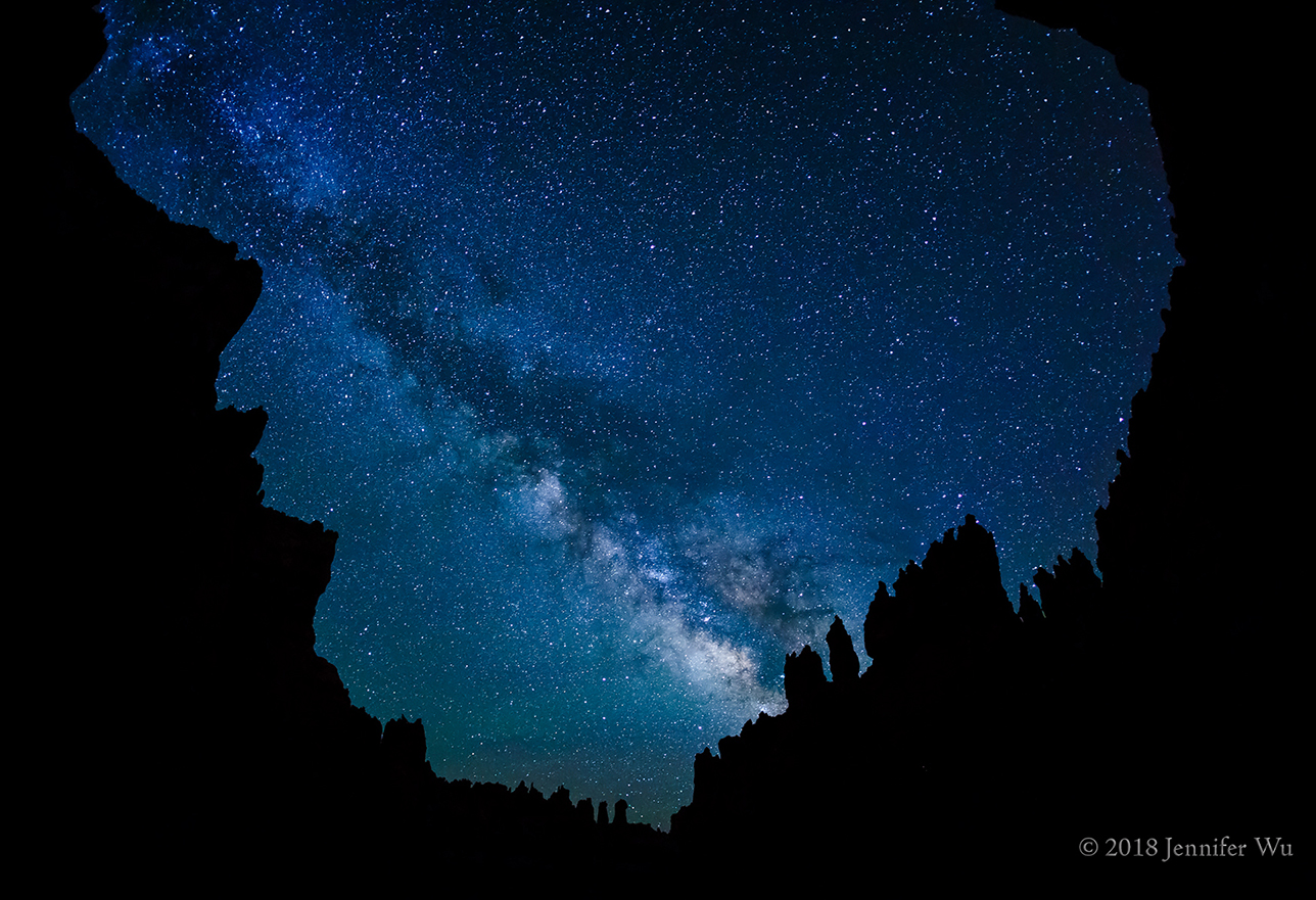 Night photograph of milky way surrounded by stars