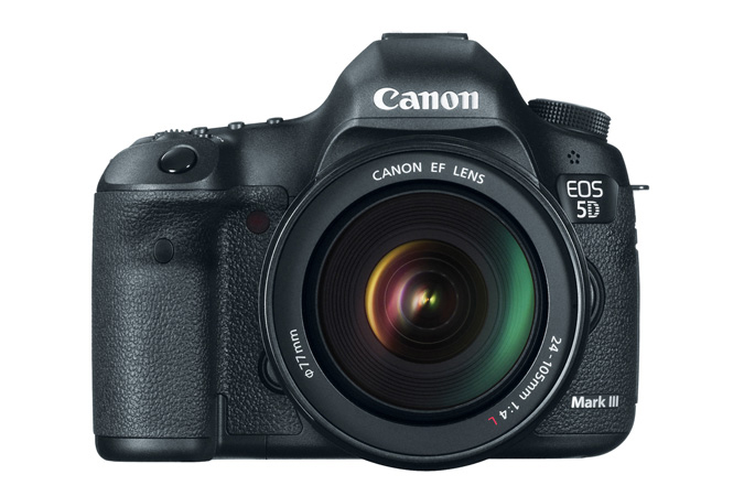 EOS 5D Mark III with 24-105mm Lens - Front View
