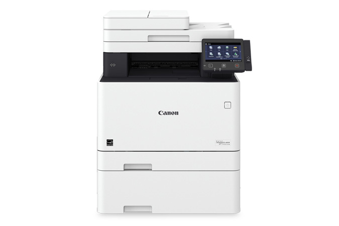 Color imageCLASS MF746Cdw multifunction laser printer - front view with cassette