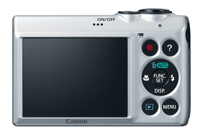 PowerShot A810 digital camera in Silver - Back View