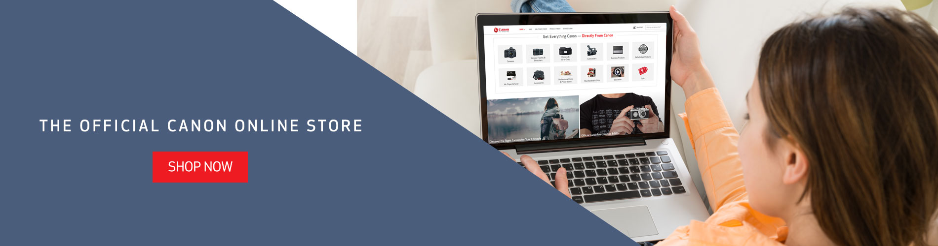 Shop now on the official Canon online store!