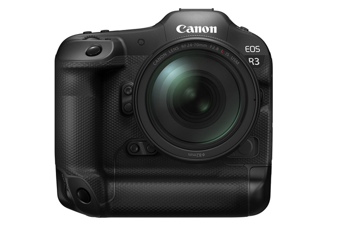 Canon EOS R3 - Front with EOS RF 24-70mm F2.8 L IS USM
