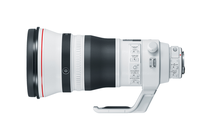EF 400mm f/2.8L IS III USM (Side View with Mount)