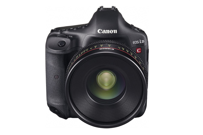 EOS-1D C digital SLR - Front with EF Cinema Prime Lens