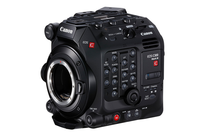 Canon C300 Mark III - Front Side_Left