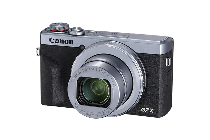 PowerShot G7 X Mark III Silver - 3/4 view