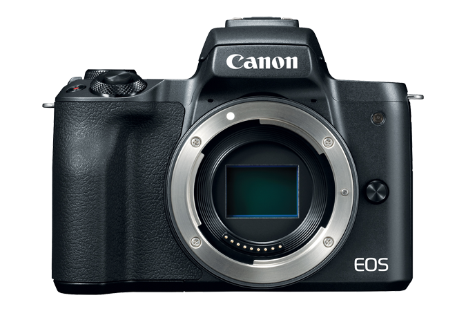 EOS M50 (Black) - Front with no lens attached