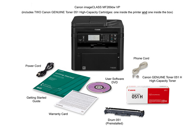 imageCLASS MF269dw multifunction laser printer value pack