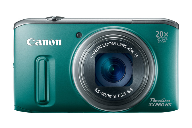 PowerShot SX260 HS digital camera in Green - Front View