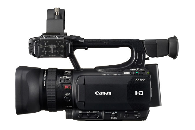 XF100 Professional Camcorder - left view