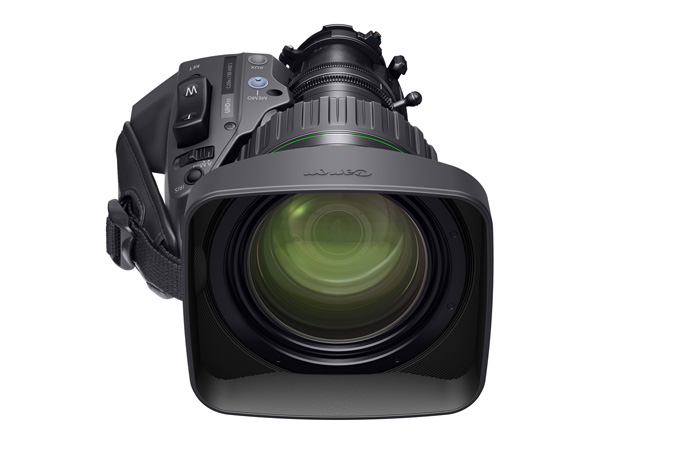 Desktop - CJ20ex7.8B portable 4K Broadcast Lens - Front view