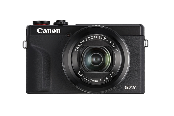 PowerShot G7 X Mark III Black - front view