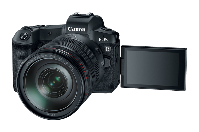 EOS R with Open LCD