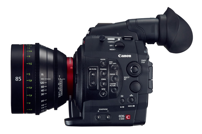 Cinema EOS C500 digital cinematography camera - Right view