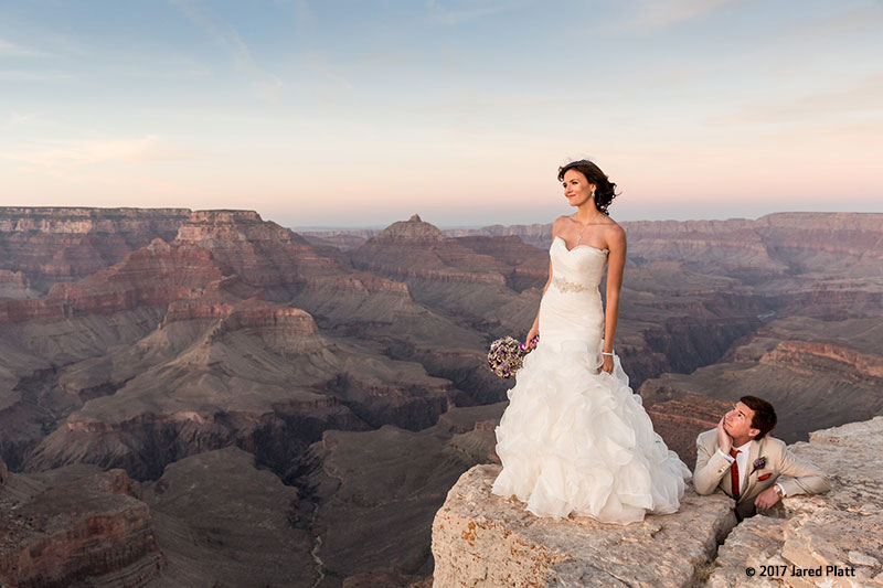 Canon See Impossible - Jared Platt - Bride and Groom at Grand Canyon