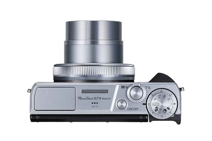 PowerShot G7 X Mark III Silver - top view