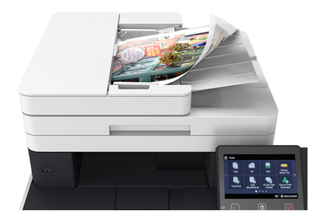 Color imageCLASS MF743Cdw multifunction laser printer - one pass scan