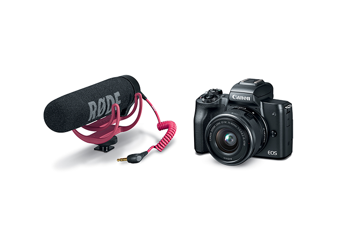 EOS M50 Video Creator Kit - Camera & Microphone detached