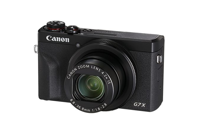 PowerShot G7 X Mark III Black - 3/4 view
