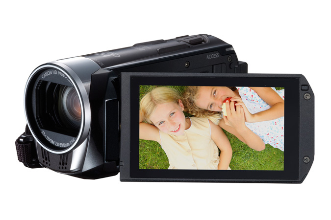 VIXIA HF R32 Flash Memory camcorder - 3/4 view with LCD open