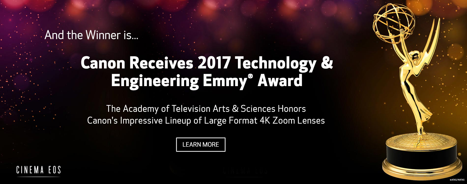 Canon Receives 2017 Technology & Engineering Emmy® Award