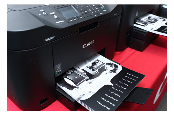 Canon U.S.A. hosted an educational forum for small business owners where attendees received an inside look at MAXIFY inkjet printers.