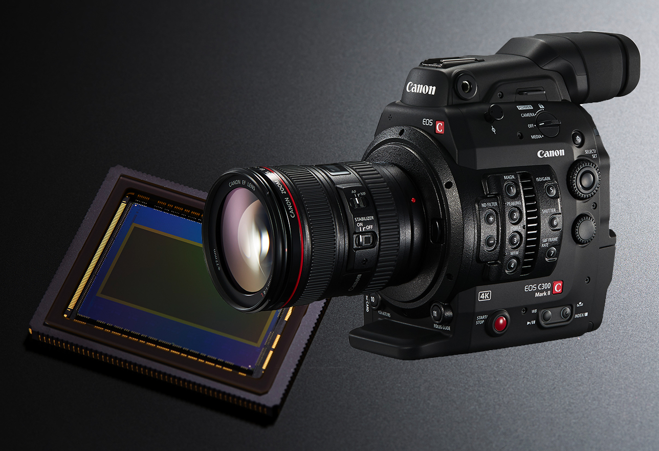 EOS C300 Mark II and sensor product image