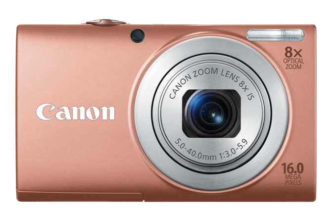 PowerShot A4000 IS digital camera in Pink - Front View
