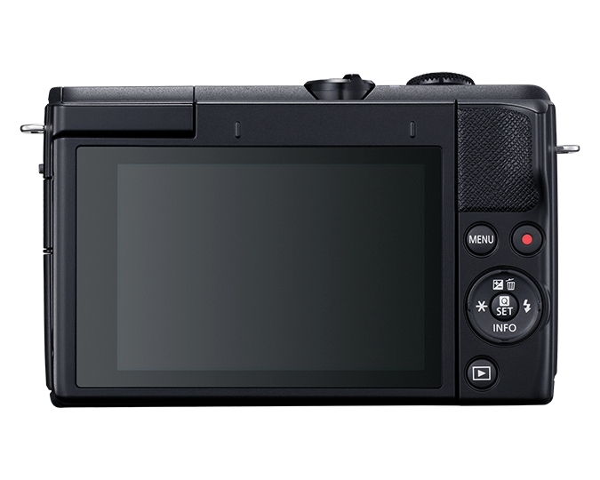 EOS M200 EF-M 15-45mm IS STM Kit - black - back
