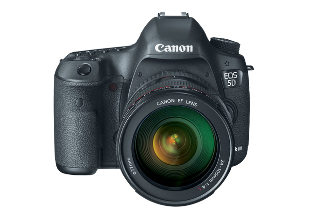 EOS 5D Mark III with 24-105mm Lens - Front Top View