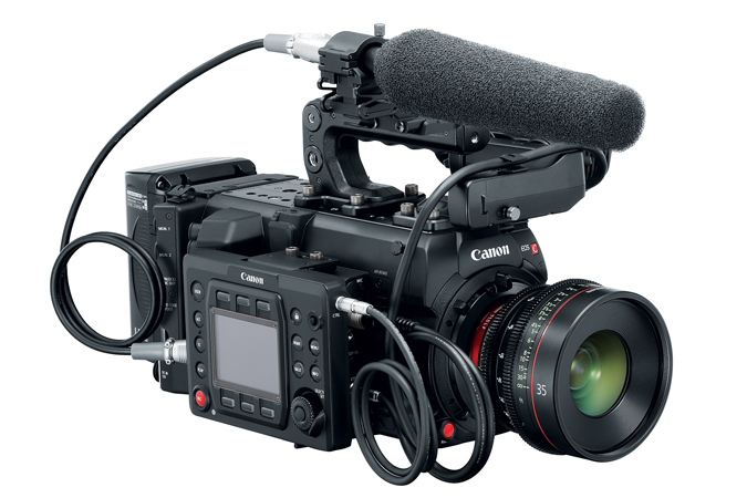 EOS C700 Microphone Attachment LCD Screen