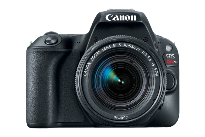 EOS Rebel SL2 Front with Lens