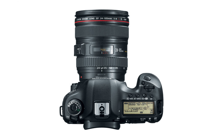 EOS 5D Mark III with 24-105mm Lens - Top View