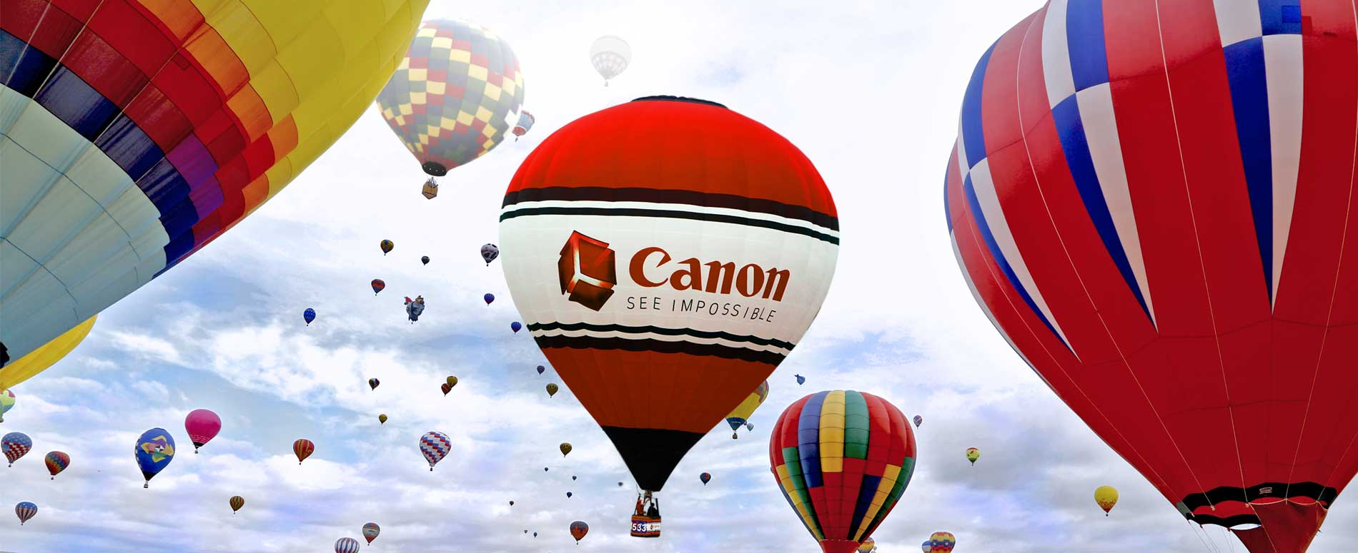Albuquerque International Balloon Fiesta 2015 -Canon See Impossible balloon