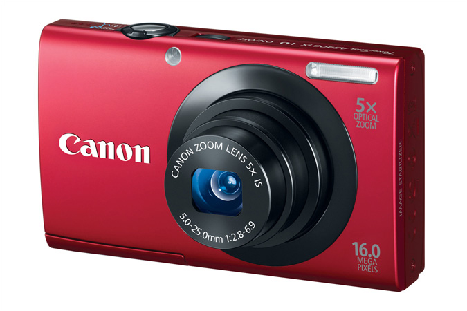 PowerShot A3400 IS digital camera in Red - 3/4 View