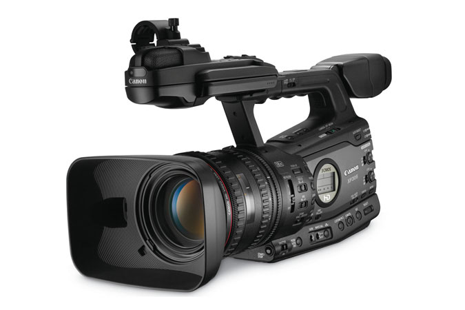 XF305 Professional Camcorder - 3/4 view