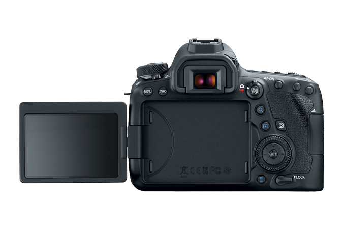 EOS 6D Mark II Rear with Open LCD