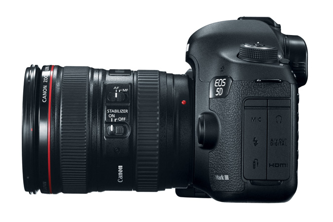 EOS 5D Mark III with 24-105mm Lens - Left View