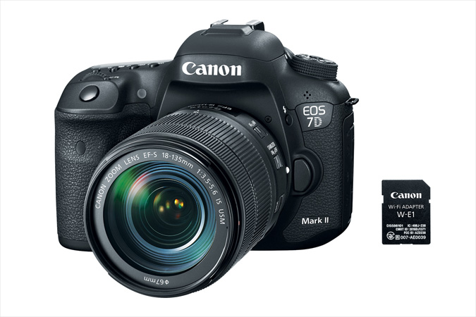 EOS 7D MarkII with EF 18-135 IS USM lens and Wireless Adapter W-E1