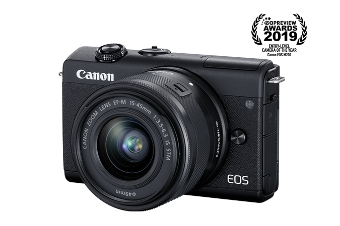 EOS M200 EF-M 15-45mm IS STM Kit - black