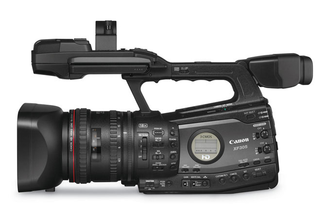 XF305 Professional Camcorder - left view