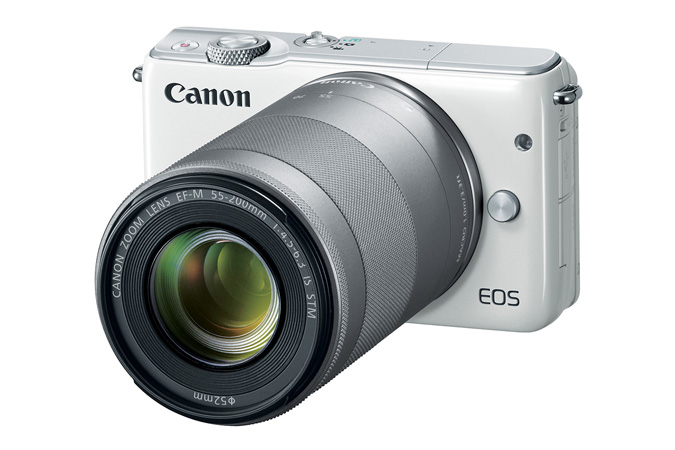 EOS M10 with EF M55-200 Lens