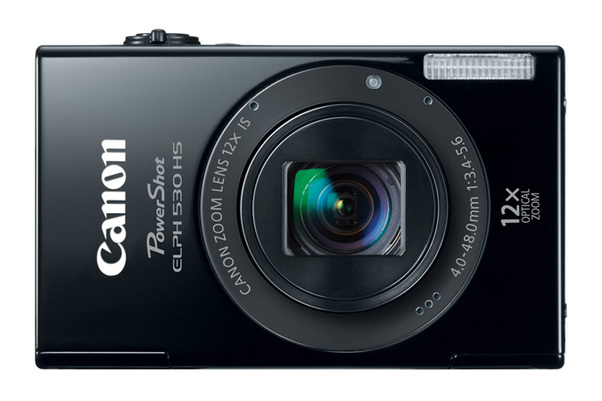 PowerShot ELPH 530 HS digital camera in Black - Front View